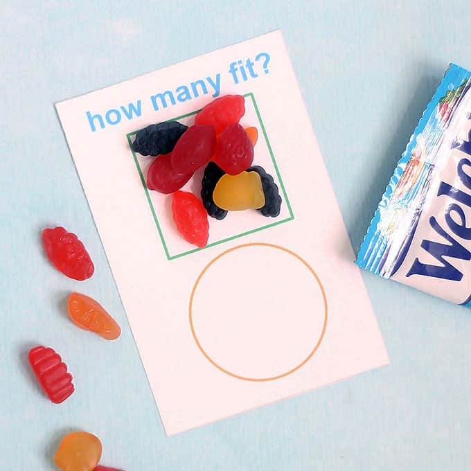 overhead view of fruit snacks school lunch ideas game