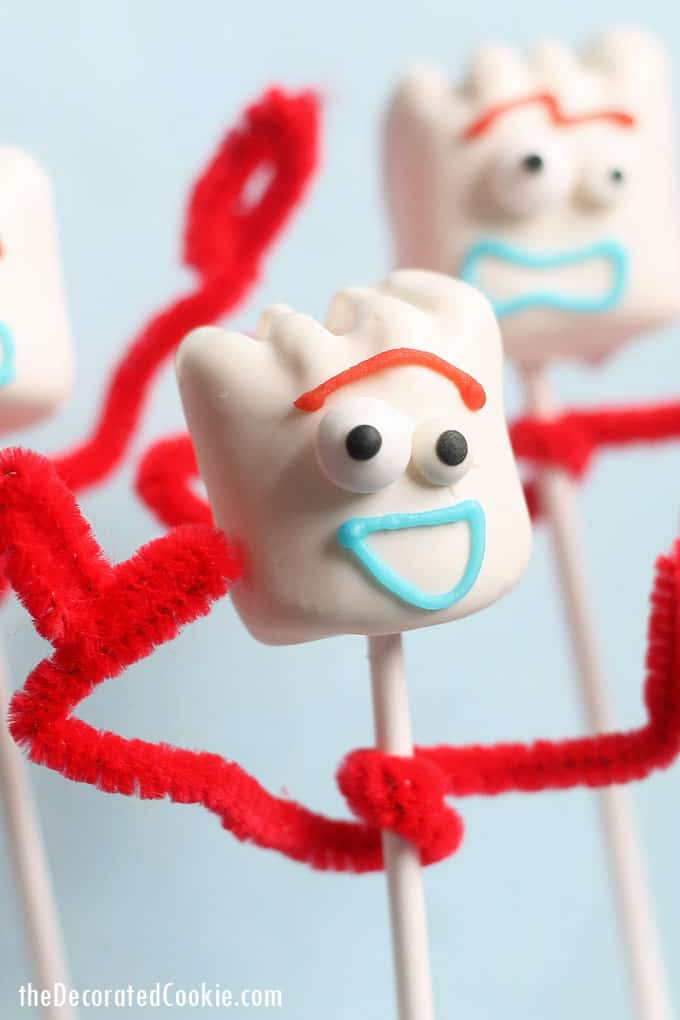 close-up Forky Toy Story marshmallows