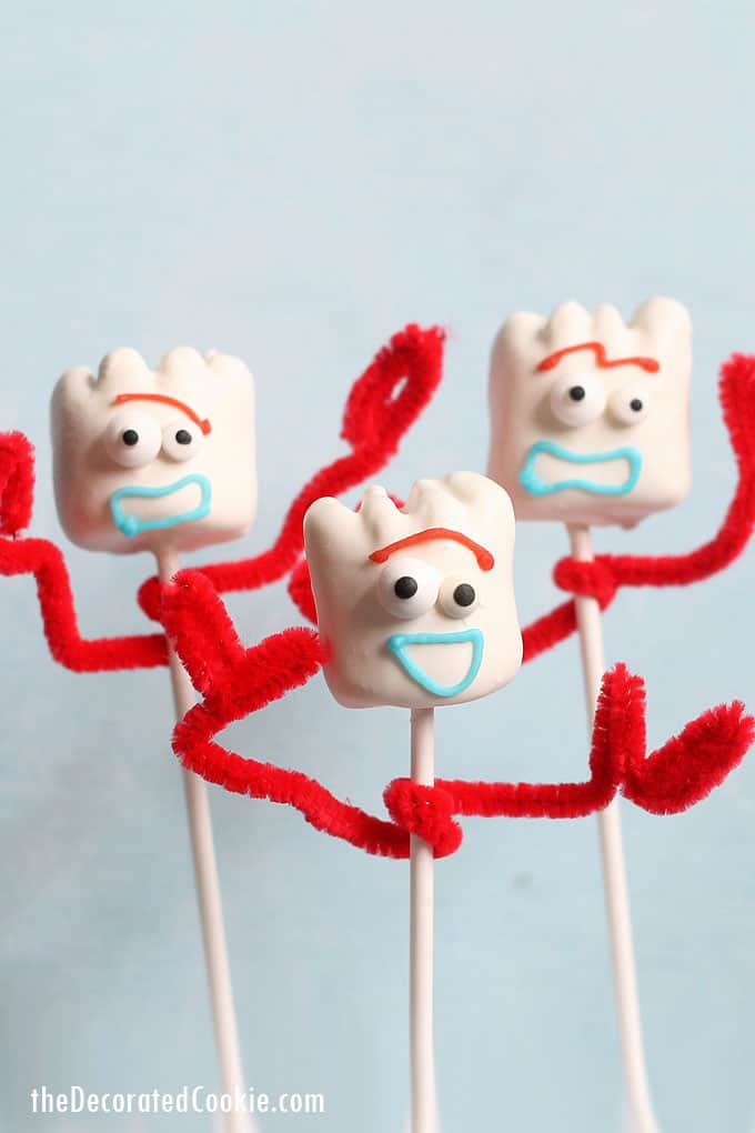 3 Forky Toy Story marshmallows