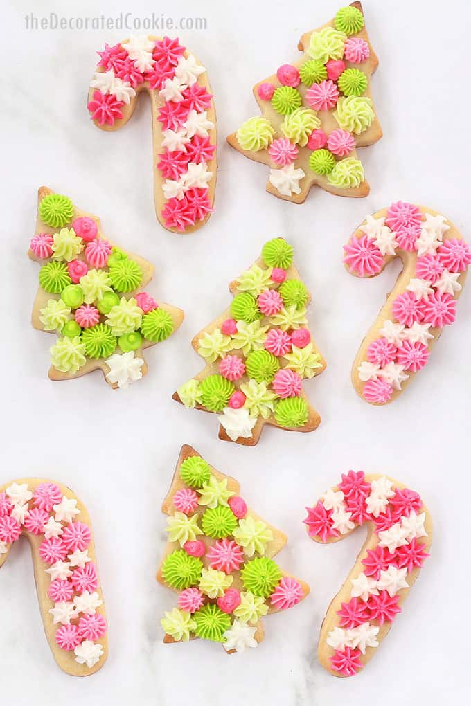 Christmas cookies with frosting