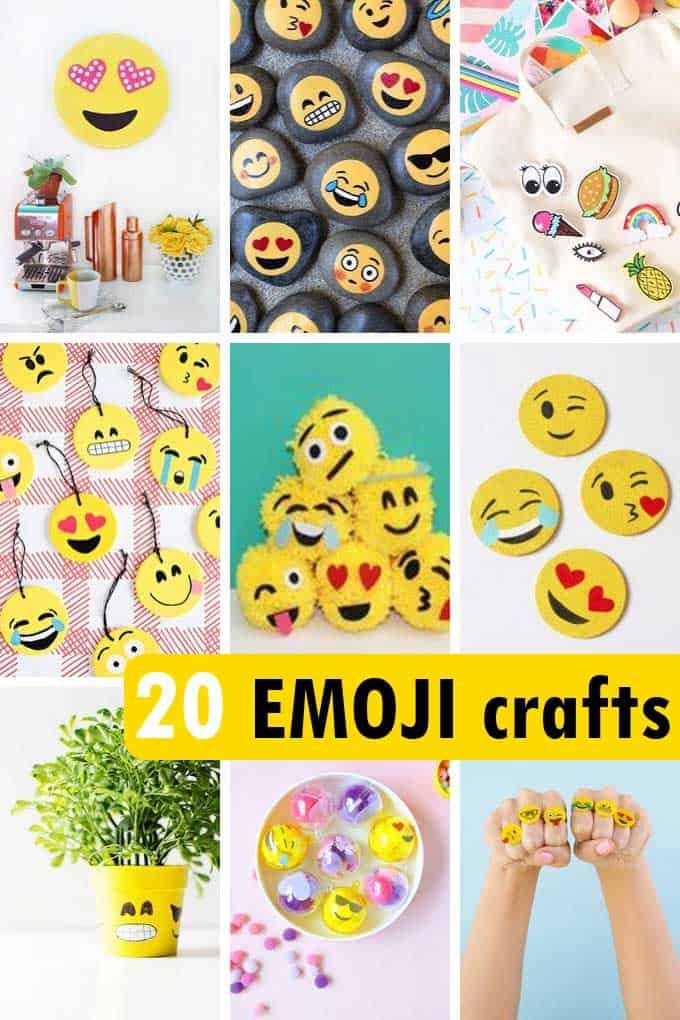 20 Emoji Crafts Fun Diy Projects For Teens Tweens And