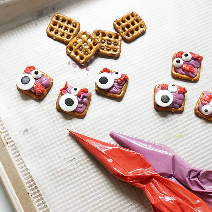 candy melts bags to make halloween pretzels