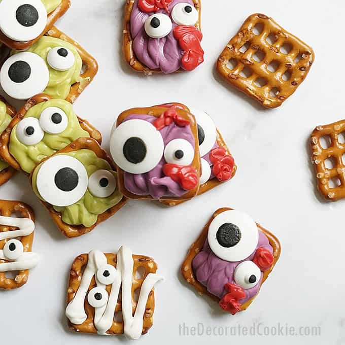 zombie pretzels and other Halloween pretzels