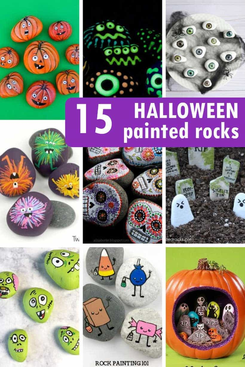 Halloween painted rock ideas