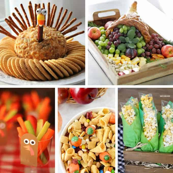 15 FUN THANKSGIVING APPETIZERS and snacks. Creative ideas for turkey, pumpkin, and fall-themed snacks and appetizers to start your holiday.