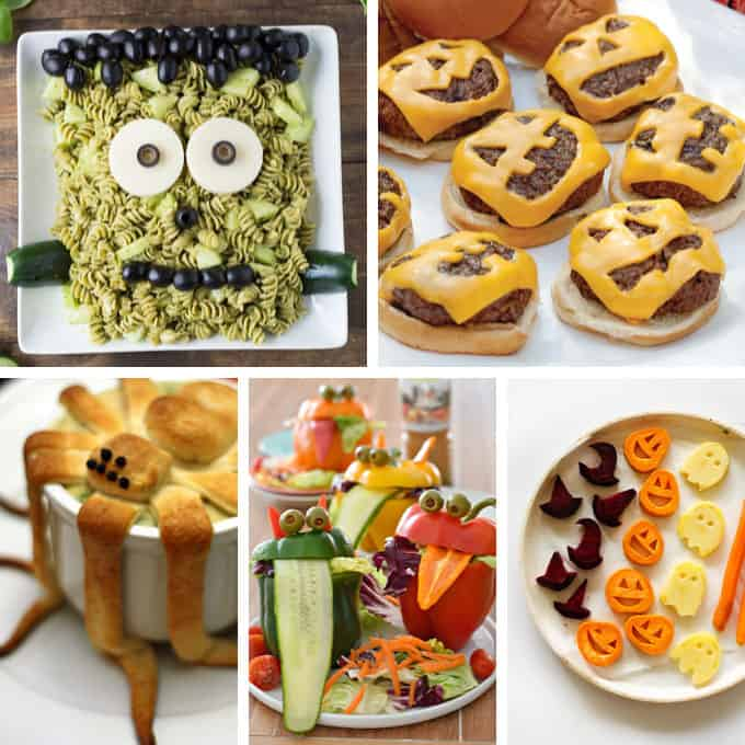roundup of Halloween dinner recipes