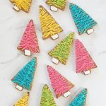 bottle brush Christmas tree cookies