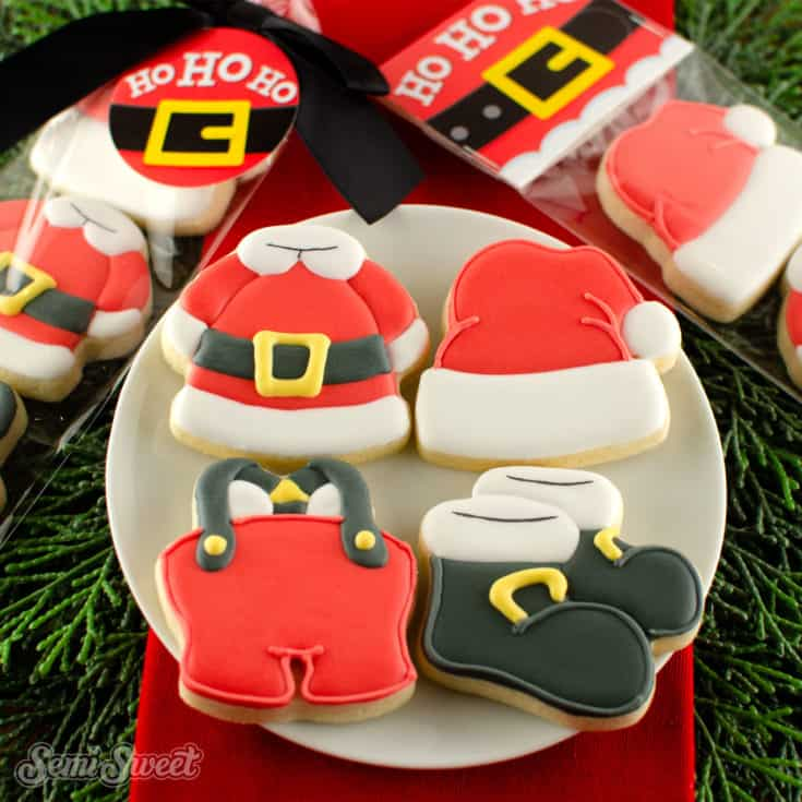 Santa's outfit cookies