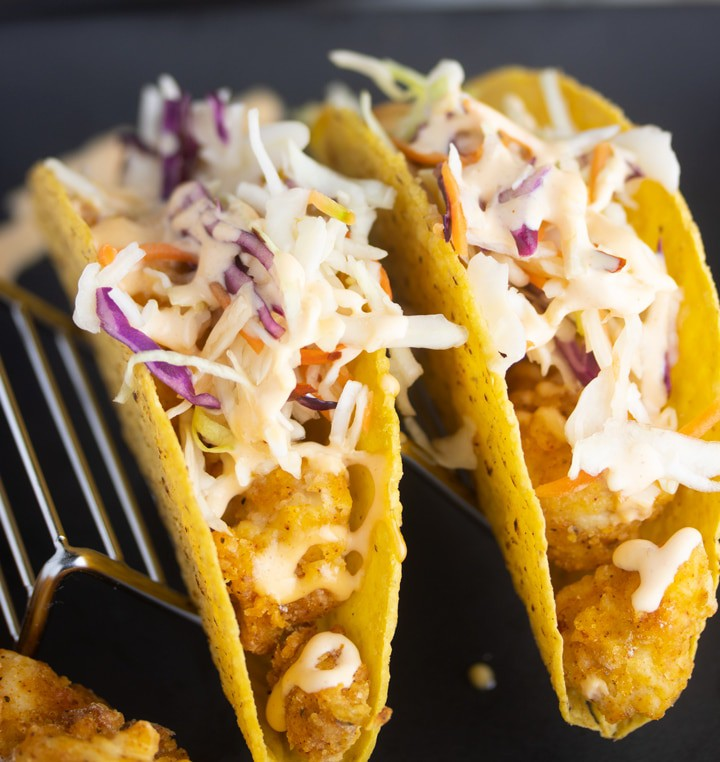 Fried Chicken Tacos (Air Fryer)