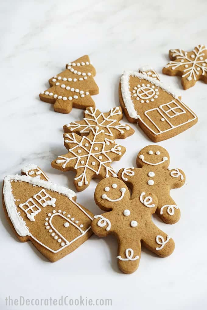 stacked gingerbread cut-out cookies