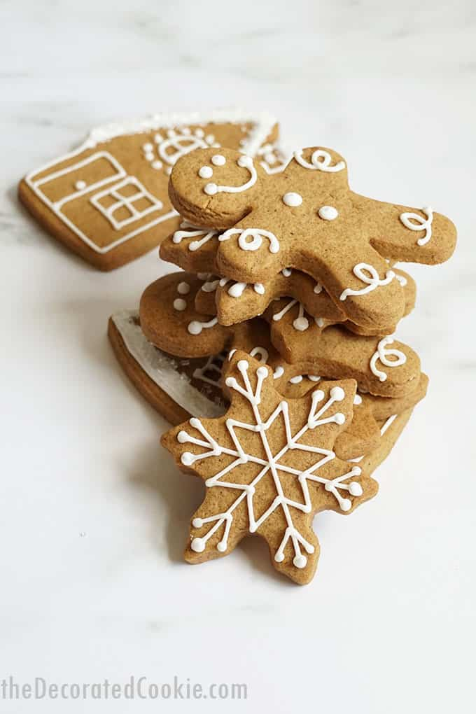 stacked cut-out gingerbread cookies