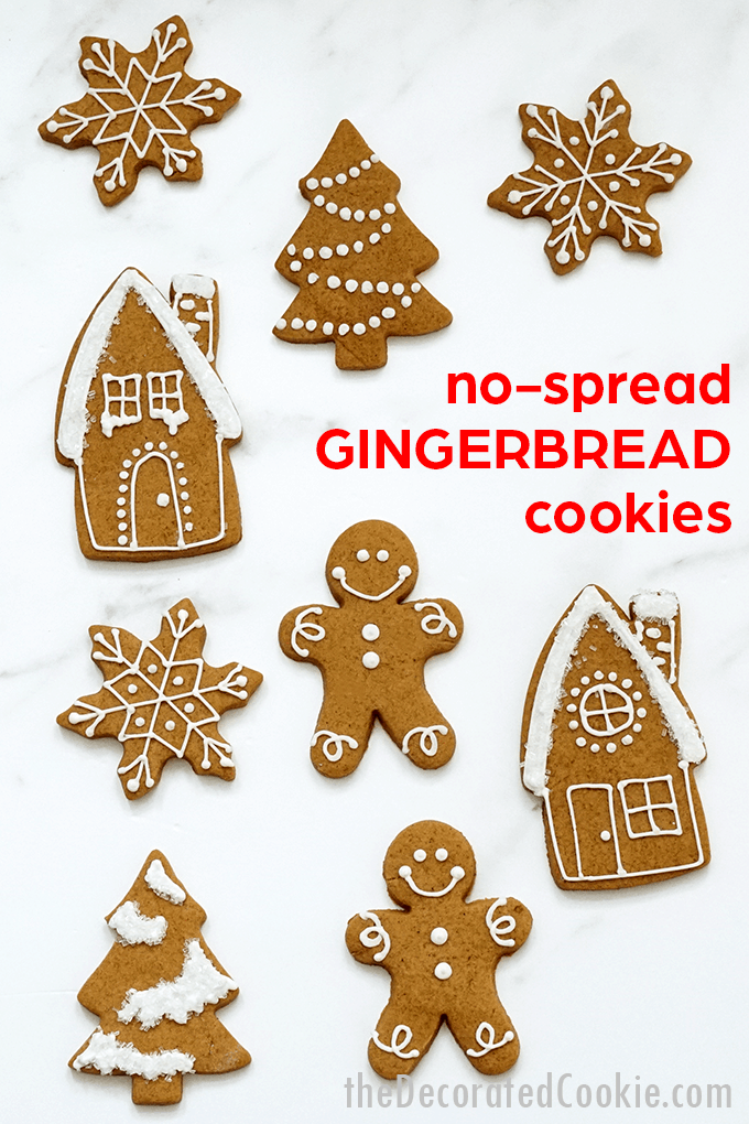 no-spread gingerbread cut-out cookies