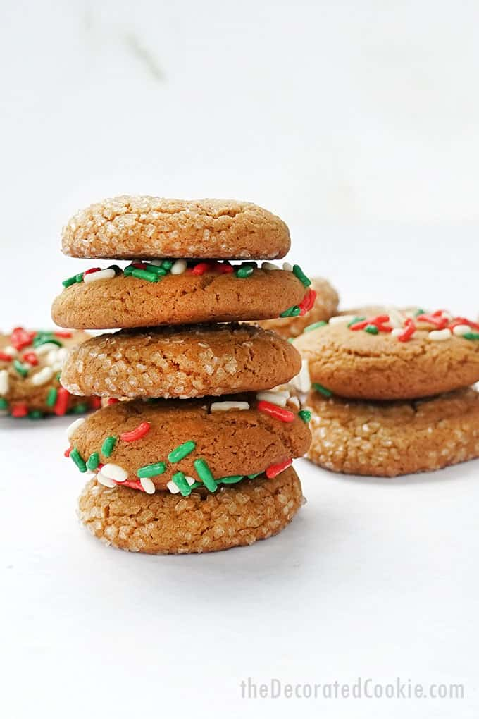 stacked soft molasses cookies