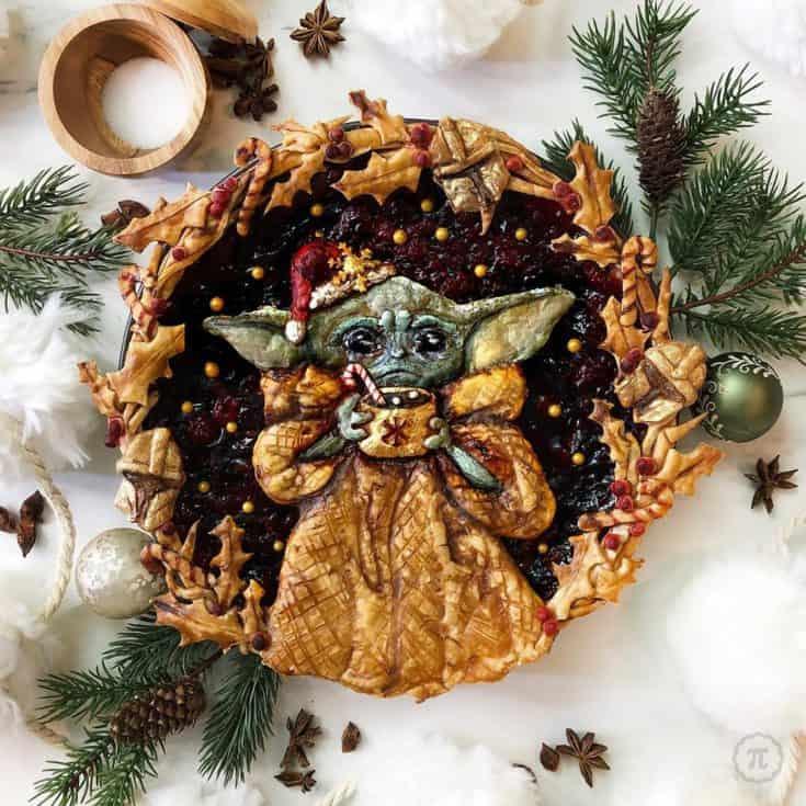 Baby Yoda pie