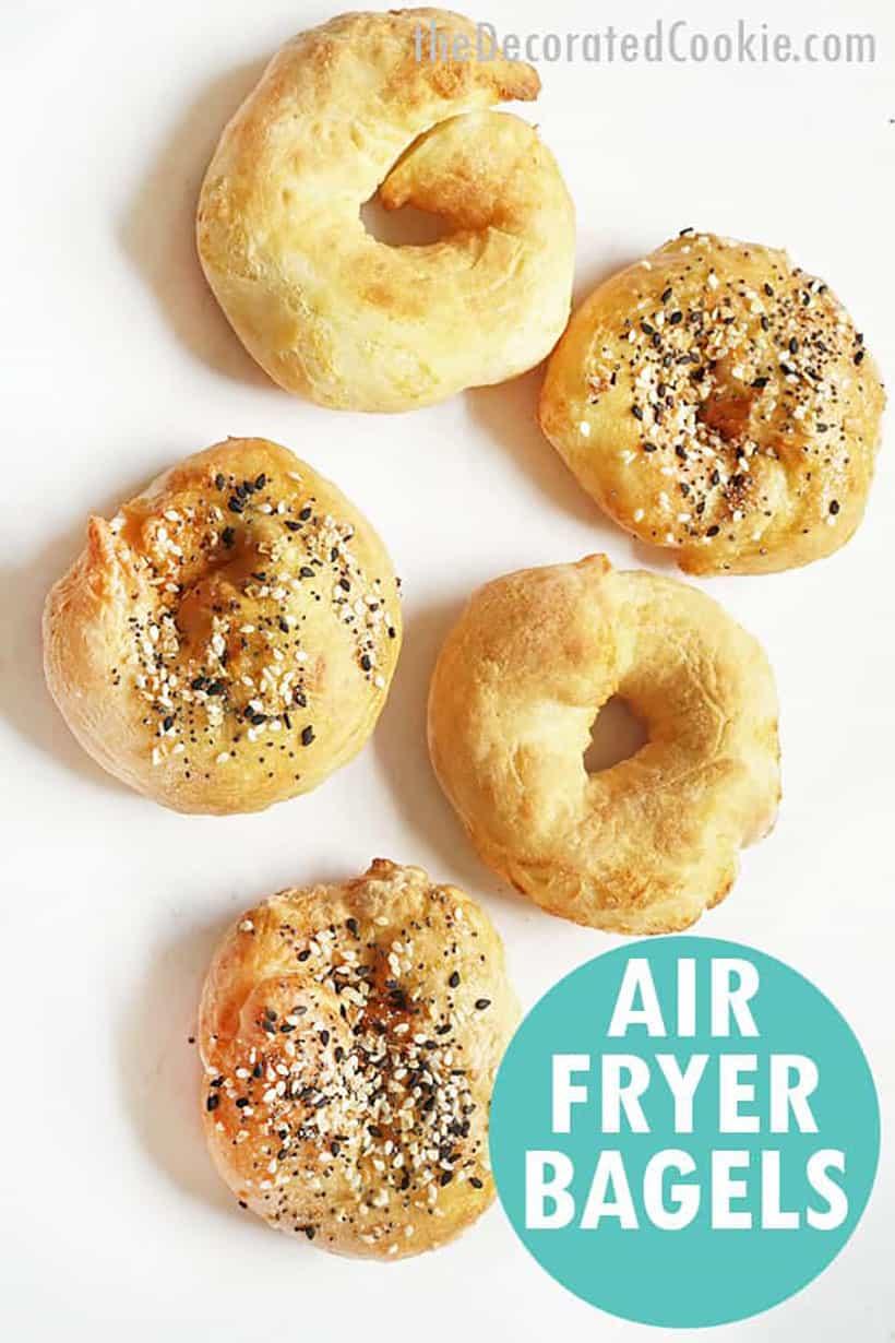 2-ingredient air fryer bagels