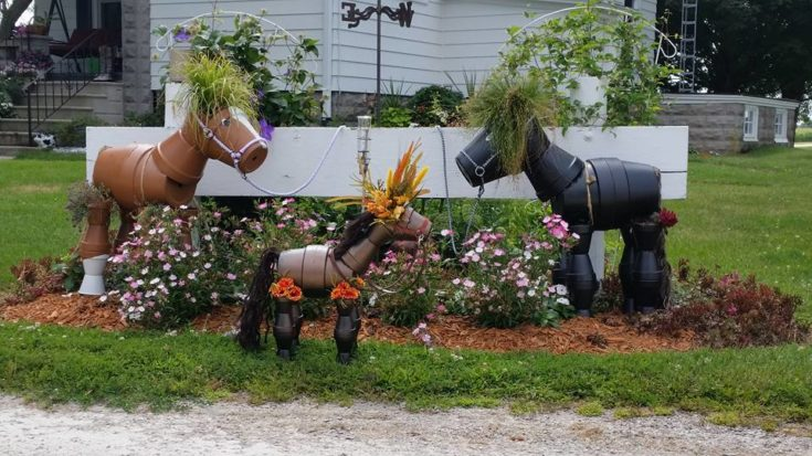 Clay Pot Horses