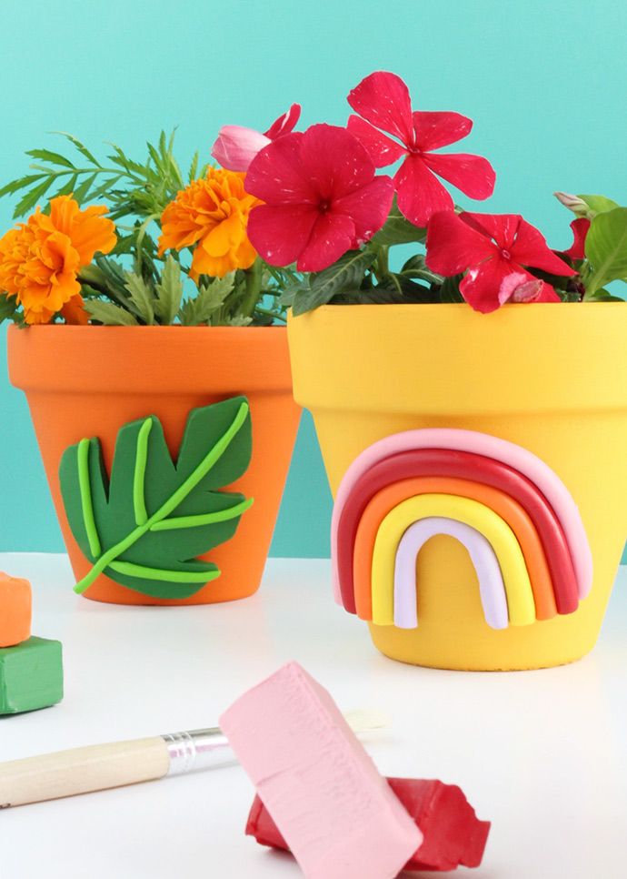 Colorful Clay Planters