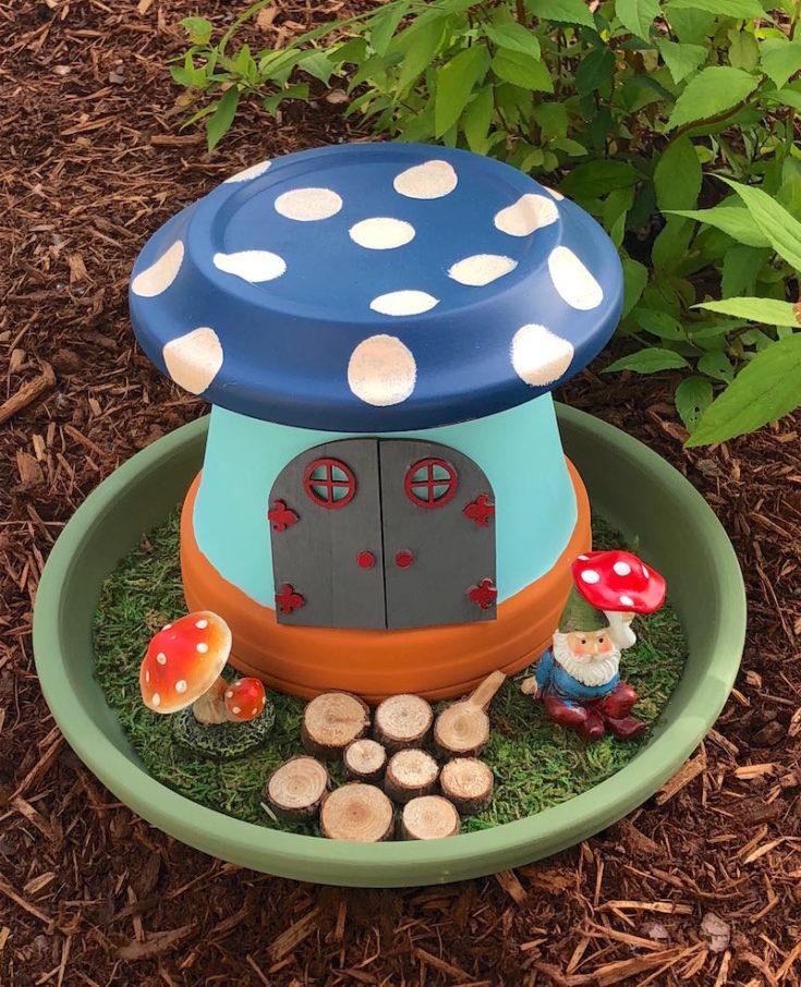 clay pot fairy garden