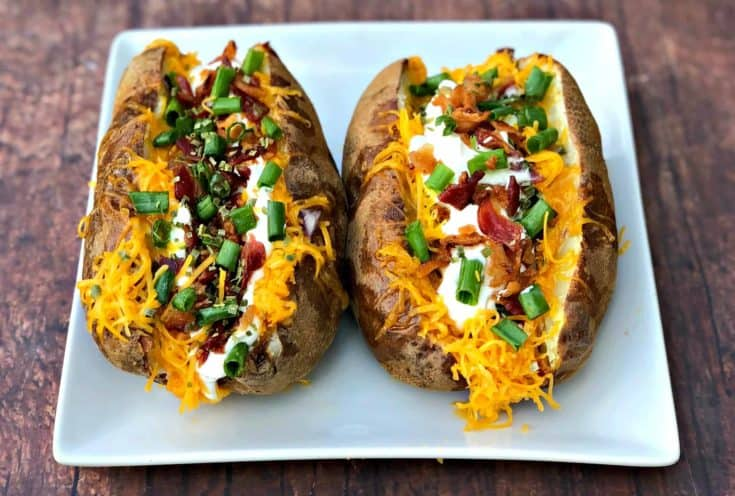 Easy, Air Fryer Baked Potatoes