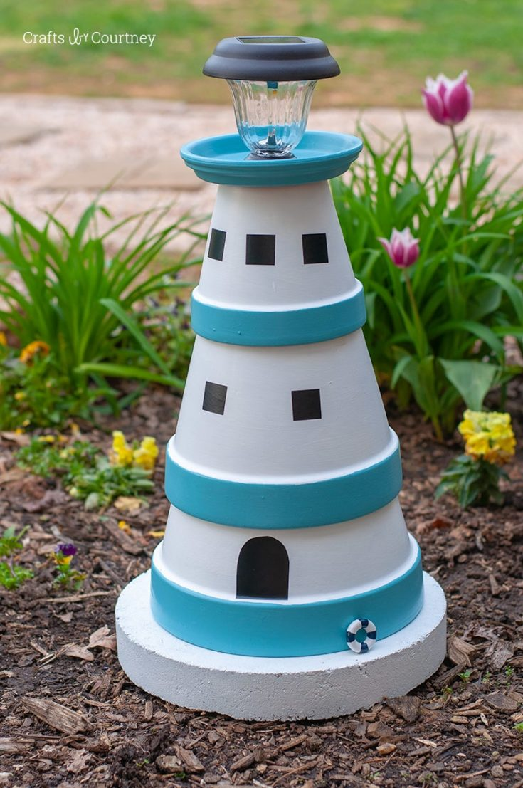 clay pot light house