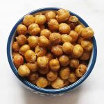 bowl of crispy chickpeas