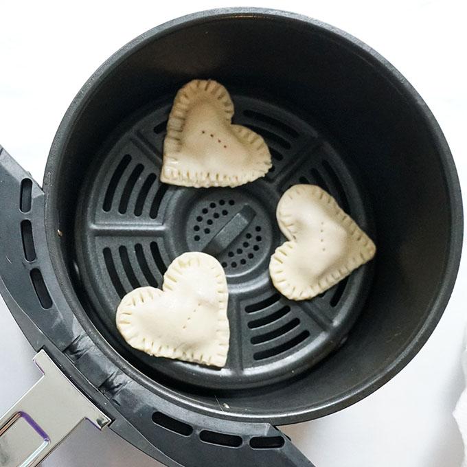 strawberry nutella valentine's day hand pies in air fryer