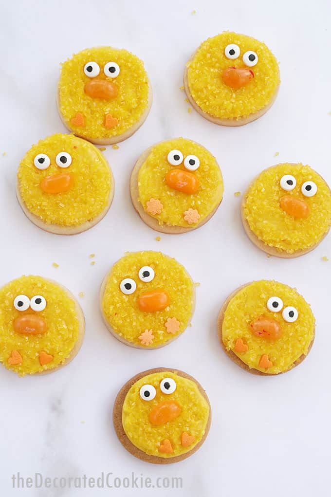 chick easter cookies