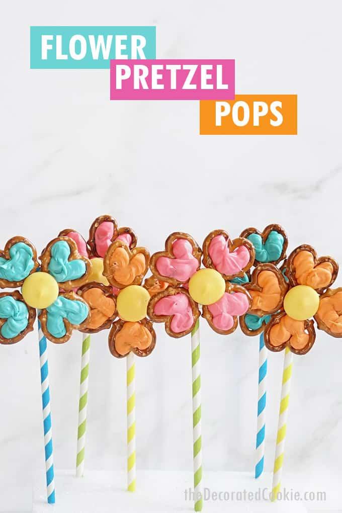flower pretzel pops arrangement