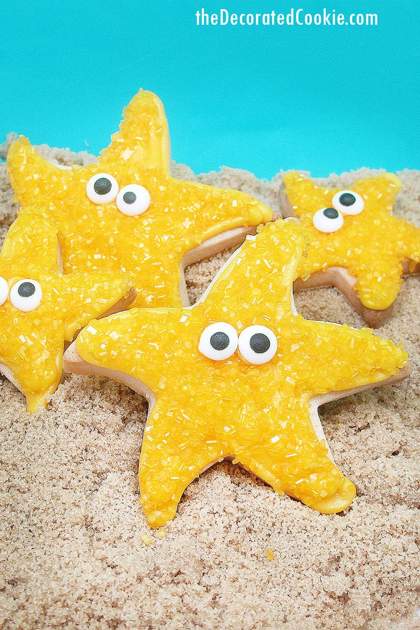 starfish decorated cookies for summer