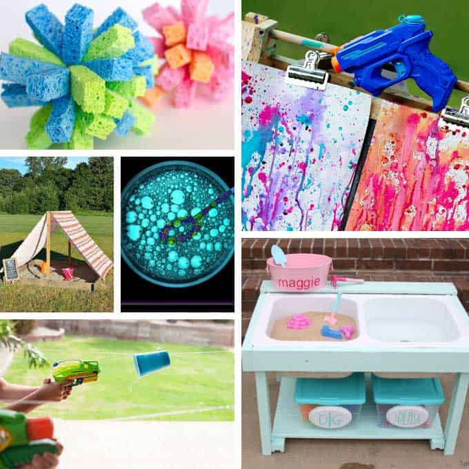 collage of fun summer activities for kids