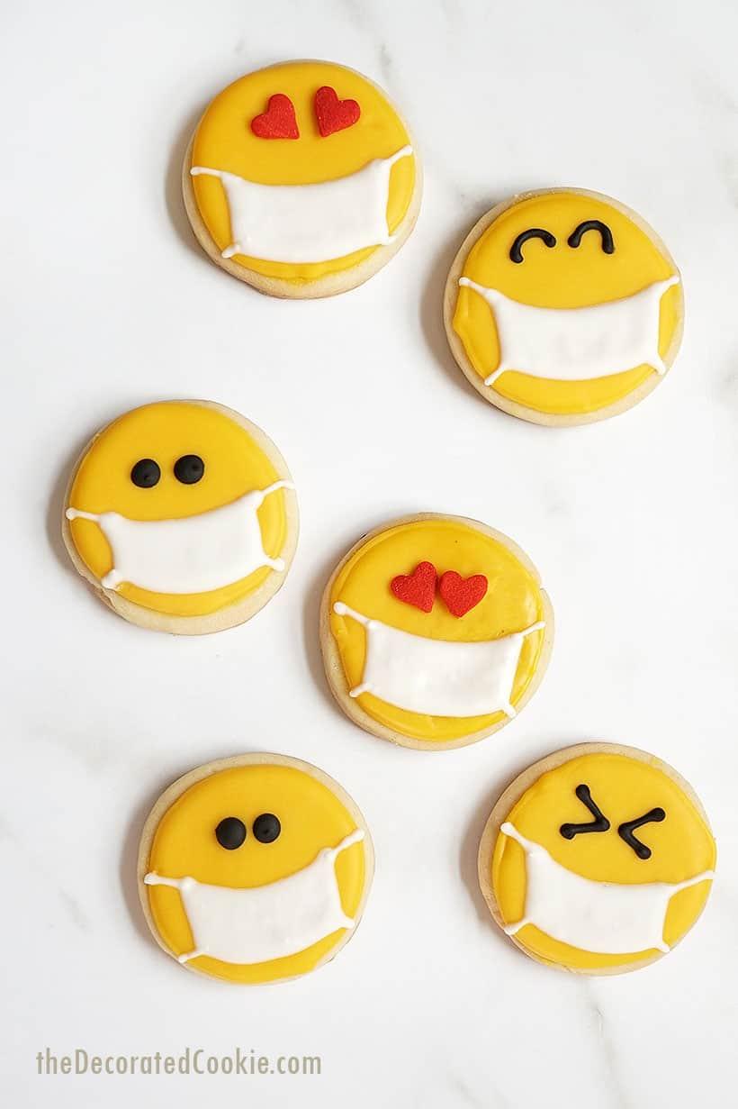 mask emoji cookies
