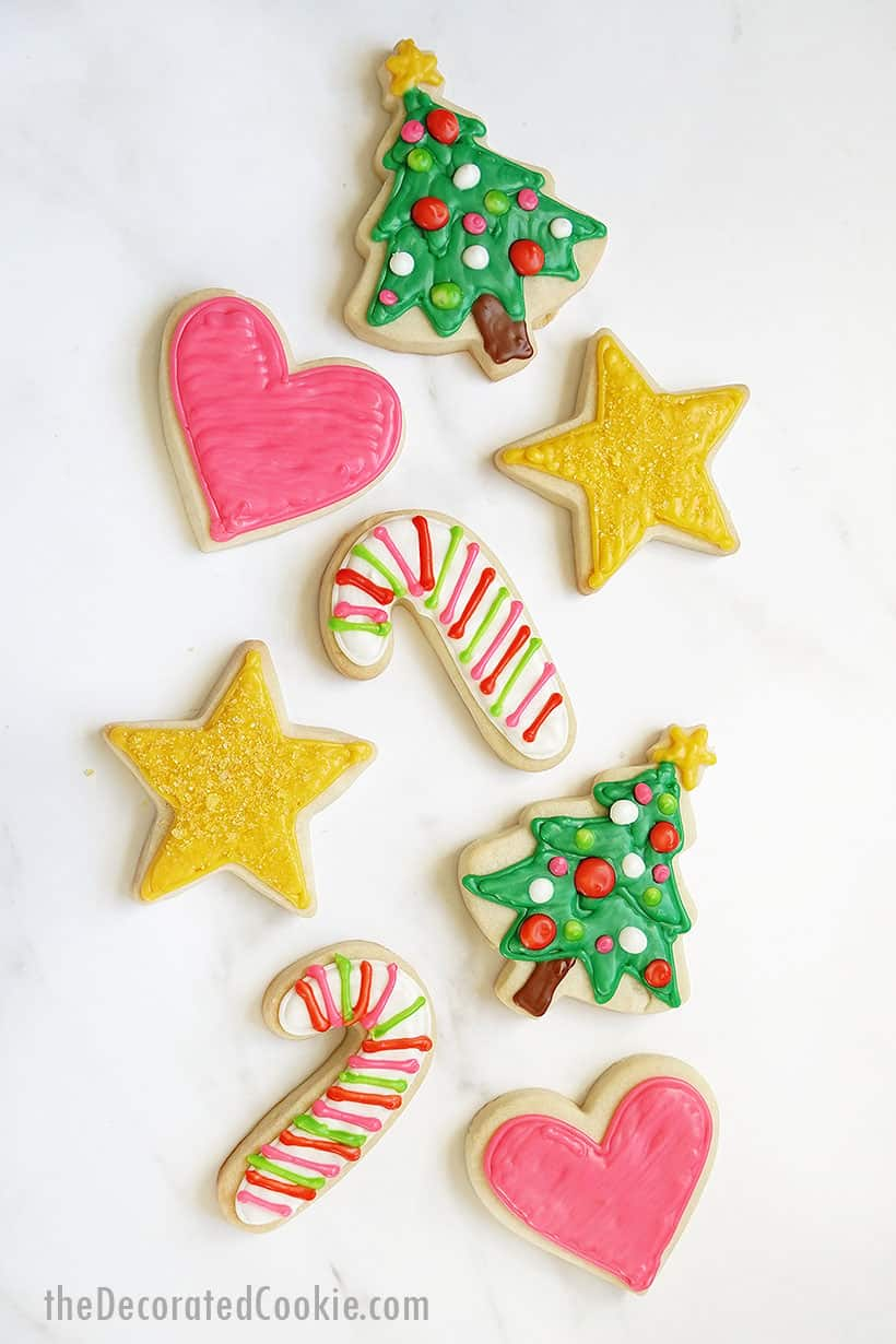 easy icing without corn syrup or meringue powder to decorate Christmas cookies
