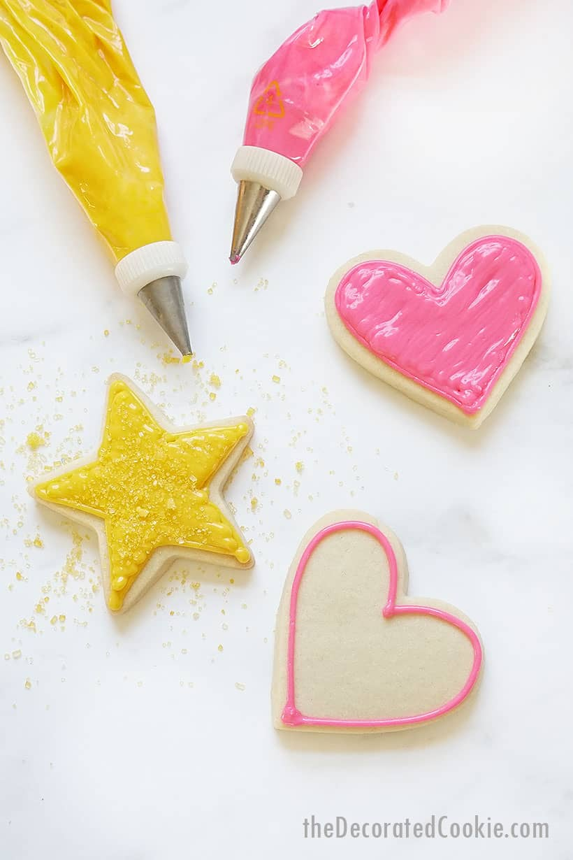 easy sugar cookie icing for cookie decorating