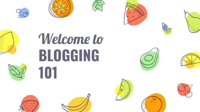blogging 101 slide