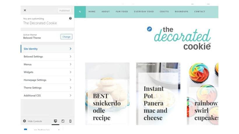 example of a wordpress blog
