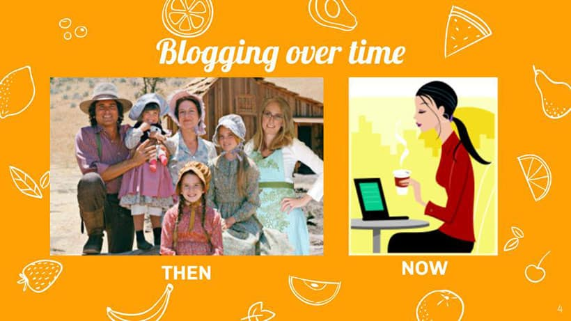slide for how to start a food blog