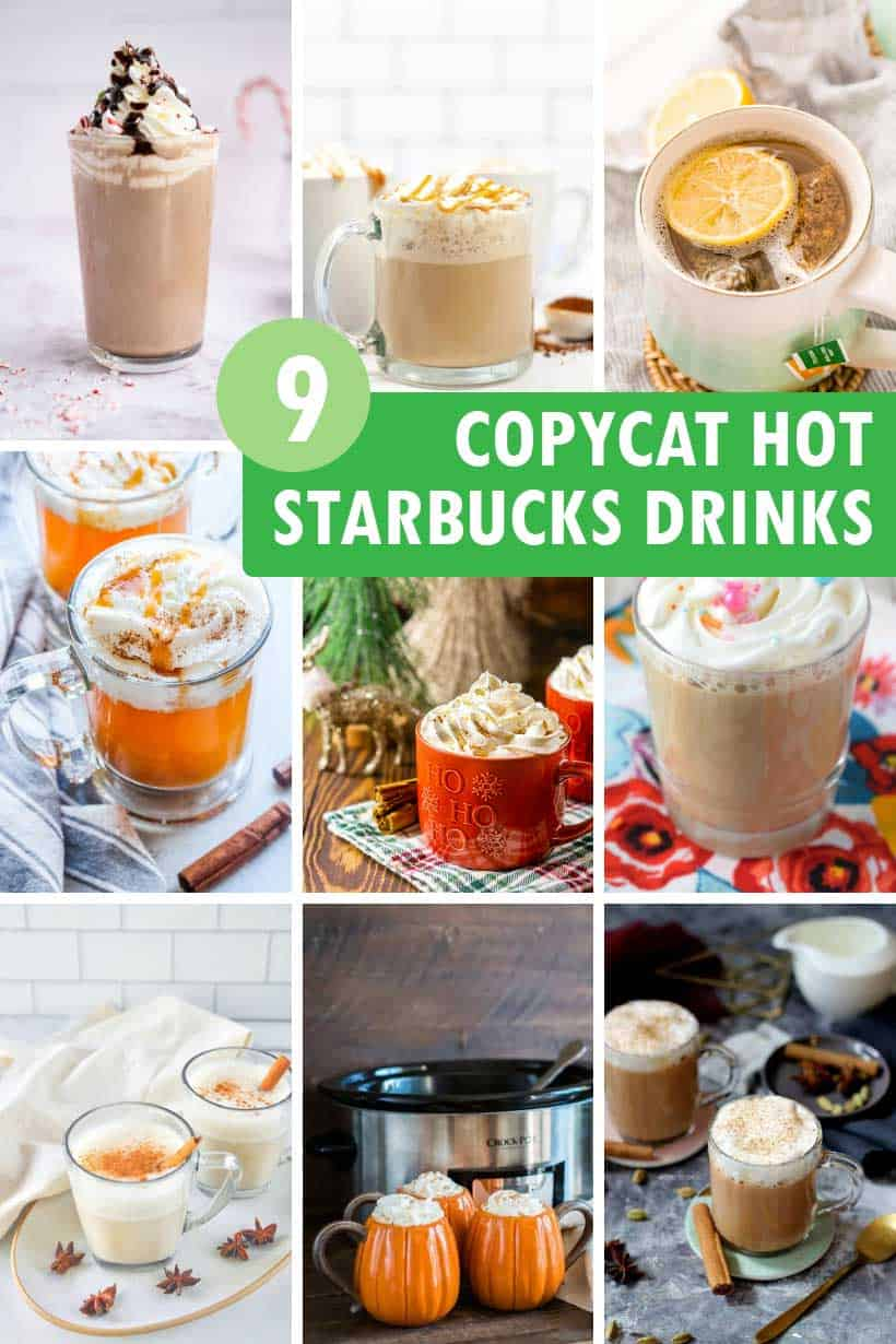 Copycat Starbucks hot drinks recipes you can make at home.