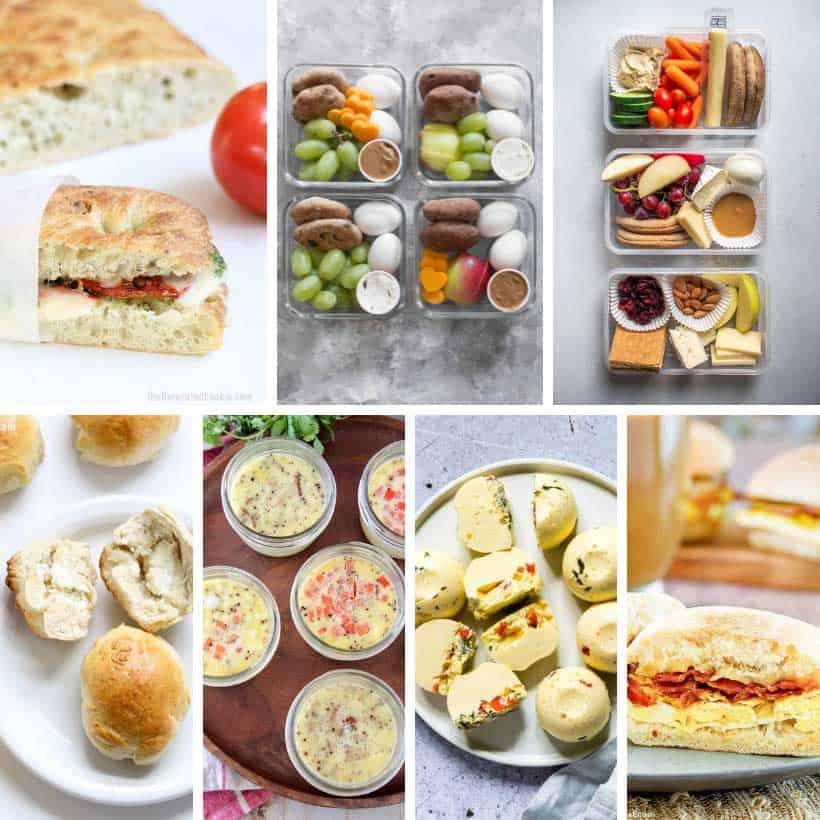 collage of Starbucks food recipes